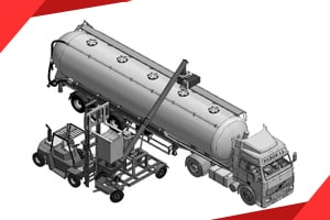 Mobile Big Bag Discharge and Bulk Truck Loading System