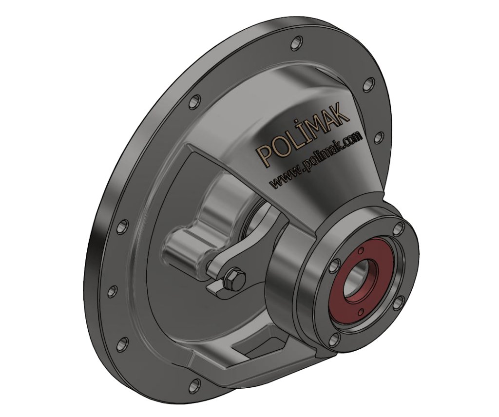 Outboard bearing rotary valve endplate